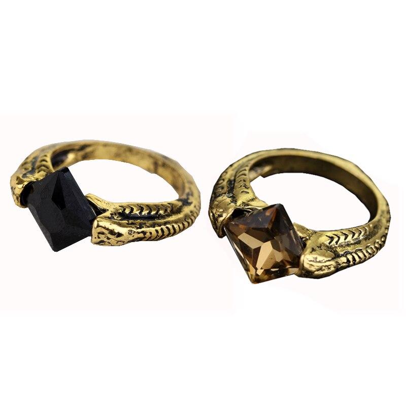 Rj preto cristal senhor voldemort horcrux anéis a pedra da ressurreição marvolo gaunt deathly harlows dumbledore feminino anel