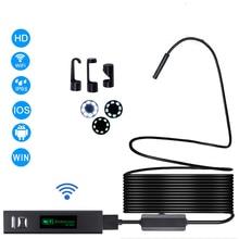 WIFI Endoscope Camera HD 1200P 10M Mini Waterproof Hard Wire Wireless 8mm 8 LED Borescope For Android PC IOS