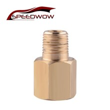 SPEEDWOW Oil Pressure Adapter Professional Parts 1/8-27 NPT Female To 1/8 BSPT Male Oil Pressure Gauge Adapter Brass
