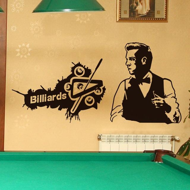 Custom Billiards Wall Sticker Game Boy Handmade Mural Stickers Wall ...