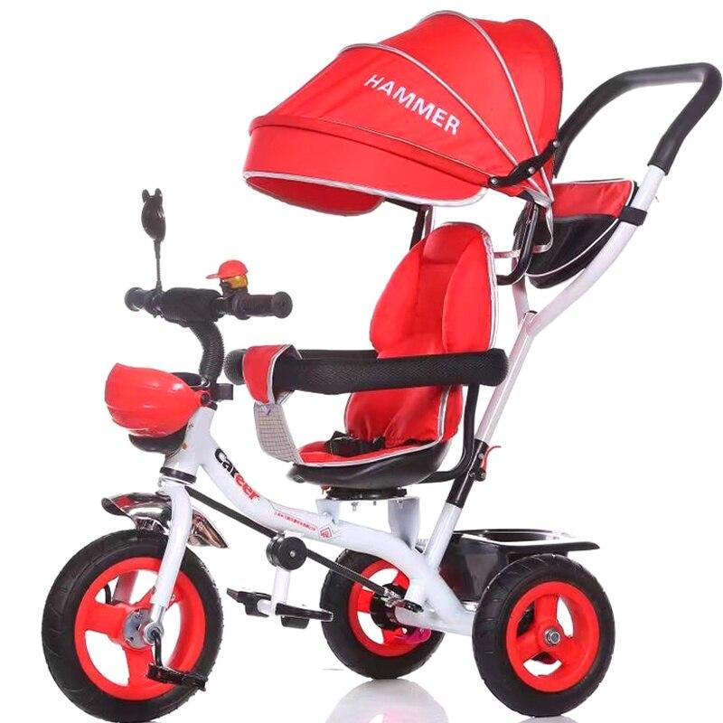 Ребенок трехколесная коляска велосипед ребенка тележка детский трехколесный велосипед три колеса детский велосипед Детские коляски три к