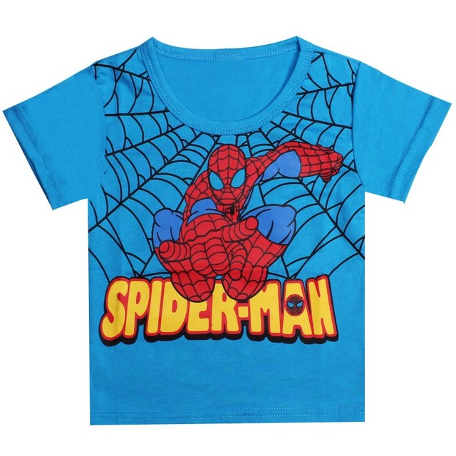 Brand t shirt Kids Boys Baby Girls tees Spiderman Hero T-shirt short Sleeve Tops cotton children Clothes kids Clothing tops