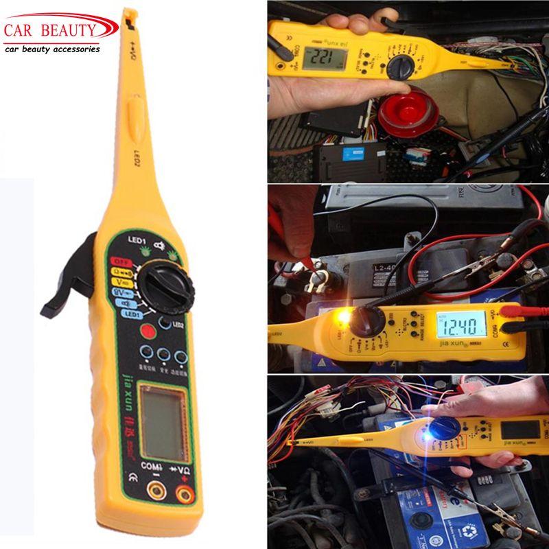 Multi-fonction Auto Circuit Tester Multimètre Lampe De Voiture Réparation Automobile Multimètre Électrique Professionnel Sonde Testeur Compteur