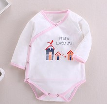 Baby one-piece briefs crawling clothes girl cotton long sleeve dress boy coverall