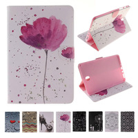 For Case Samsung Galaxy Tab A 8 0 T355 Fashion Printing PU Leather Stand TPU Tablet
