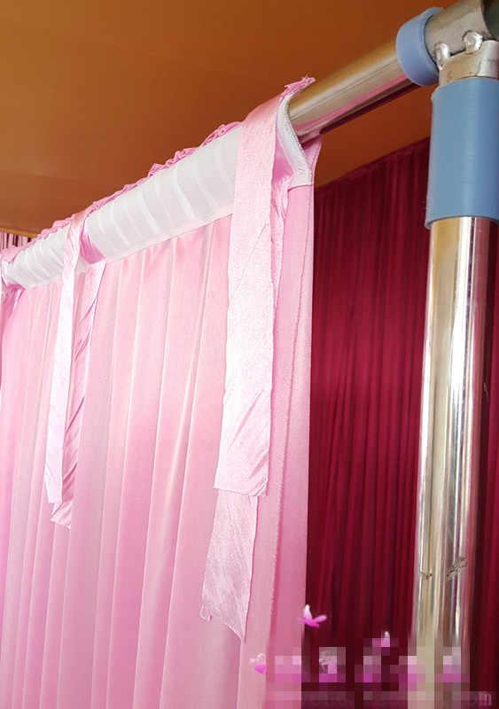 2,4X1,5 m Sheer Шелковые драпировки панелей подвесные шторы вечерние фон 5 цветов Свадебные украшения драпировка большой фоне событий ткань
