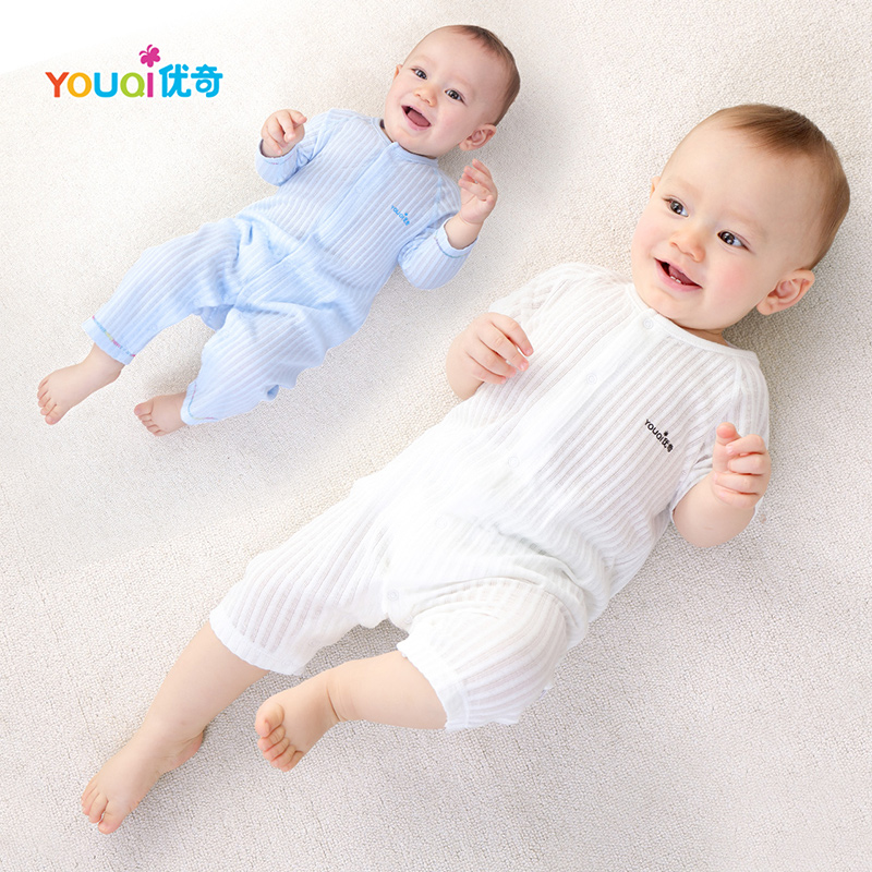 YOUQI Summer Baby Rompers 100% Cotton Brand Baby Girls Clothes Boys Pajamas Suit 3 6 9 Months Infant Jumpsuit Clothing For Baby baby boys girls summer cotton clothes white navy sailor uniforms rompers short sleeve one pieces jumpsuit babies clothing gifts