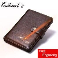 2017 Vintage Genuine Leather Men Wallet Hasp Organizer Wallets Cowhide Cover Coin Purse Design Brand Men
