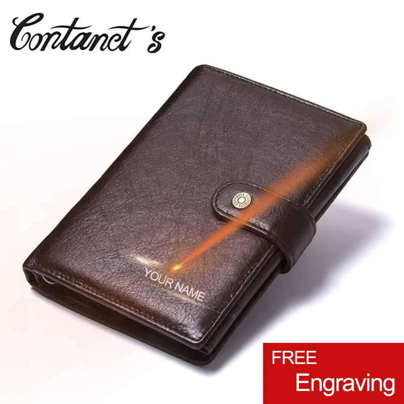 2018 Vintage Genuine Leather Men Wallet Hasp Organizer Wallets Cowhide Cover Coin Purse Design Brand Men's Credit&id Mult Wallet bvp luxury brand weave plain top grain cowhide leather designer daily men long wallets purse money organizer j50