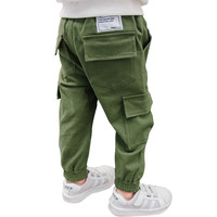 Fashion Kids Boys Casual Pants Toddler Pants Boys Trousers 2018 New Army Green Patch Pocket Teen