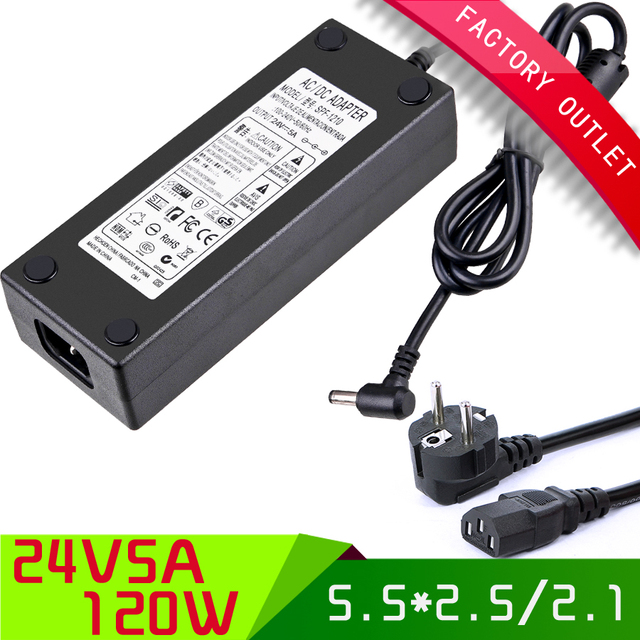 120W 24V 5A high quality IC solution  Single Output Switching power supply for LED Strip light + AC eu plug cable