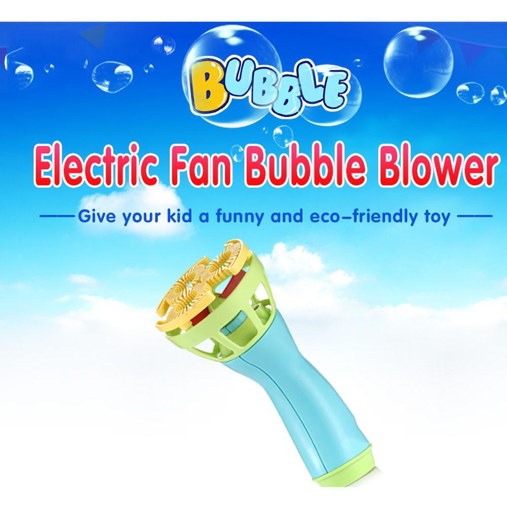 MUQGEW Children Kids Baby Outdoor Classic Toys Summer Funny Magic Bubble Blower Machine Bubble Maker Mini Fan Kids Outdoor Toys