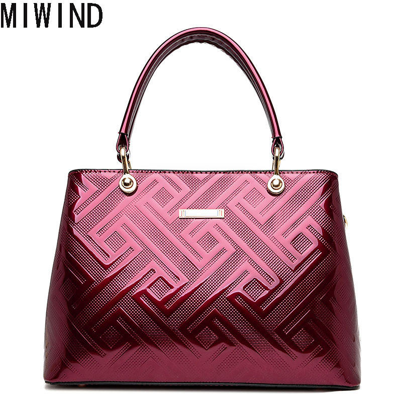 MIWIND Free Shipping  Split Leather Bags Women Handbag Brand High Quality Designer Large Capacity Female Messenger Bags  TSJ1249 free shipping high quality ink cartridge compatible for hp835 836 ip1188 large capacity