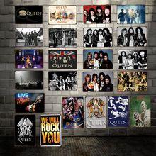 [WellCraft] reina música pósters de rock estaño signo placa de pared Vintage Pub bar Vintage pintura personalidad decoración HY-1719