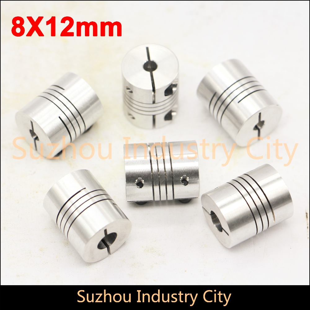 6pcs 8mm to 12mm Flexible Shaft Coupling Clamp CNC Starter Shaft Coupler Connector Diameter 30mm Length 35mm image
