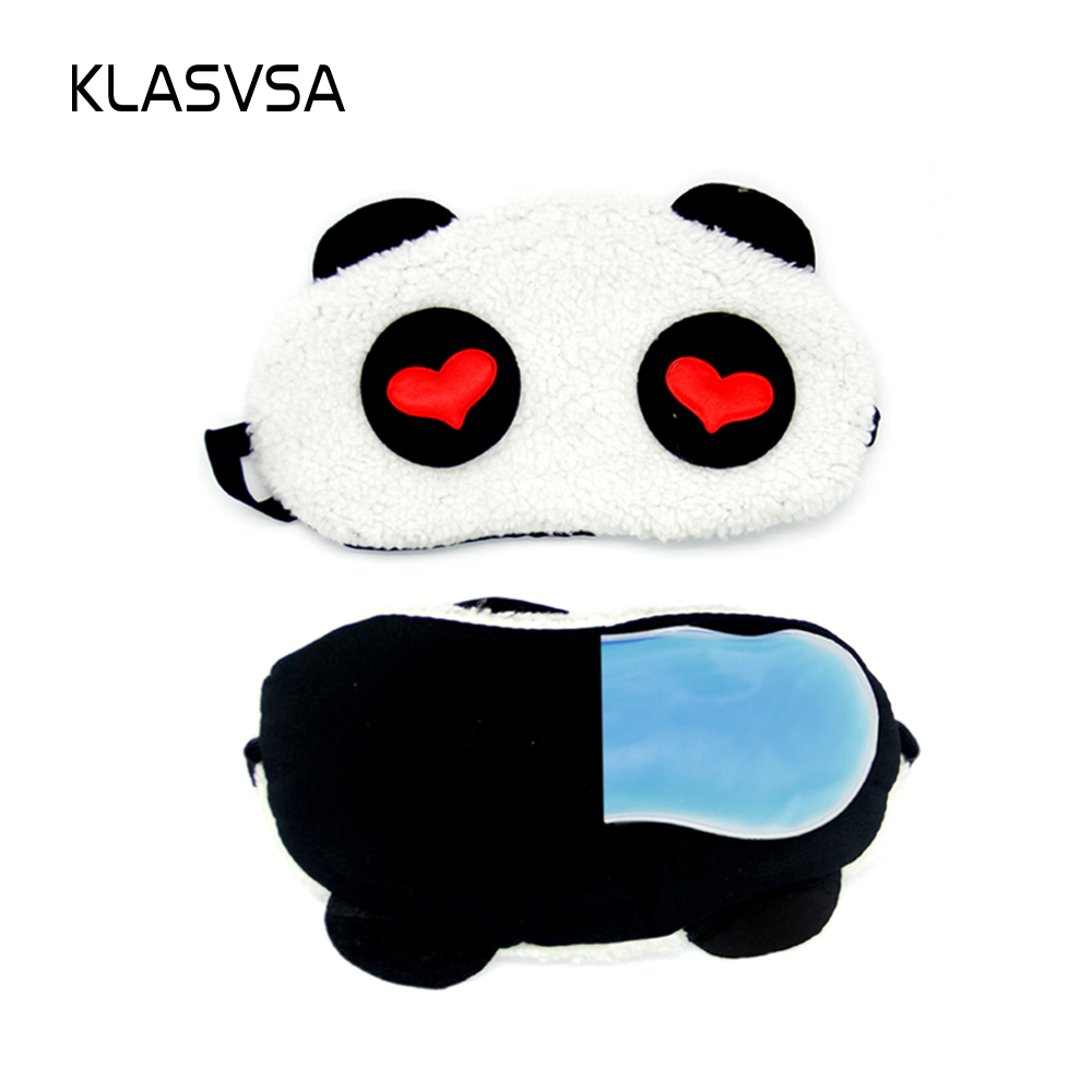 b1d73859db4 KLASVSA Relax Cooling Or Heating Panda Sleeping Eye Mask For Sleep Deep  Sleep Silk Gel Shade Beauty Eyepatch Eye Mask Eyeshade-in Sleep   Snoring  from ...