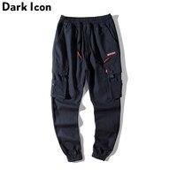 DARKICON Twill Material Harem Pants Men Side Pockets Cargo Pants Men S Cargo Pants Cotton Trousers