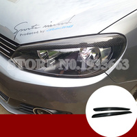 For Volkswagen Golf 6 GTD MK6 Carbon Fiber Headlight Eye Lid Eyebrow Cover 2008 2012