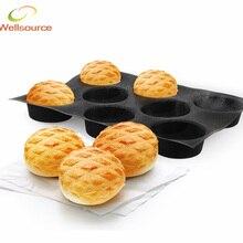 Non-stick Perforierte Backmatte für 4-zoll Brötchen, 8 Formen 8 Hohlräume Silform Stil Silikon Brötchen Pan