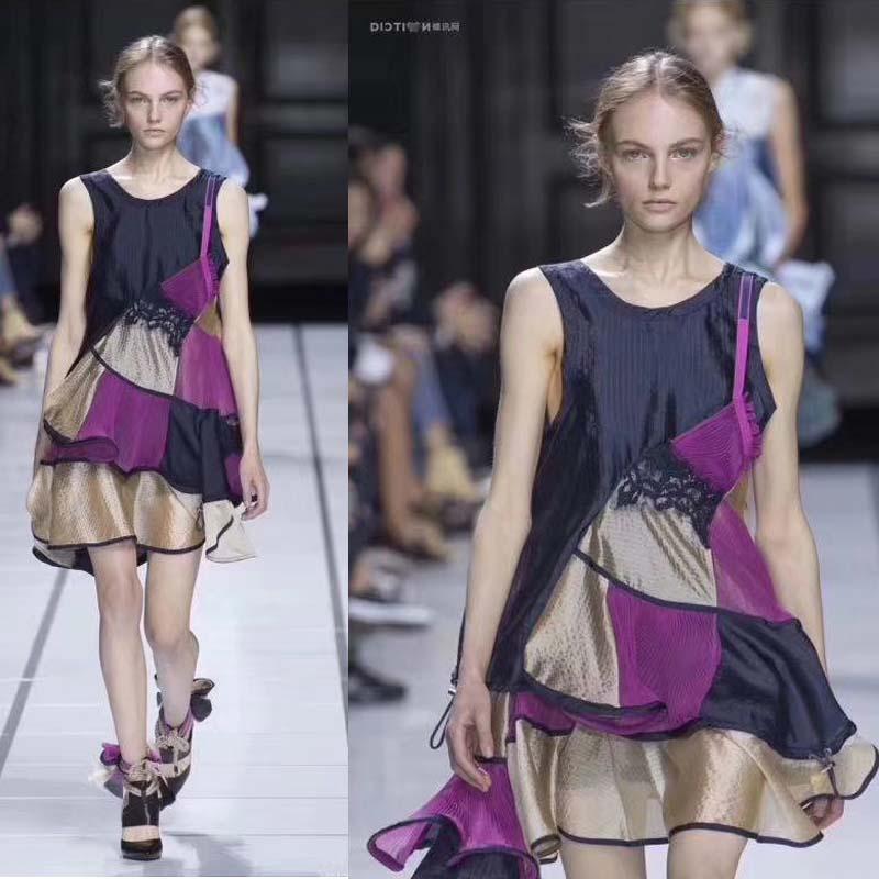 A nova moda vestido feminino de alta qualidade populares vestidos de verão para as mulheres vestido de festa ruffle femme robe ete 2018 do vintage