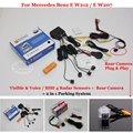 For Mercedes Benz E Class W212 W207 C207 - Car Parking Sensors + Rear View Camera = 2 in 1 Visual / BIBI Alarm Parking System