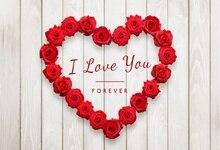 Laeacco День Святого Валентина роза Сердце исповедь деревянная доска романтическая сцена фото Фон фотографии задний план для фотостудии
