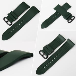 Image 2 - Maikes pulseira de relógio, pulseira de relógio de borracha 20mm 22mm 24mm fluoro, acessórios de pulseira de relógio para huawei gt seiko relógio de cidadão