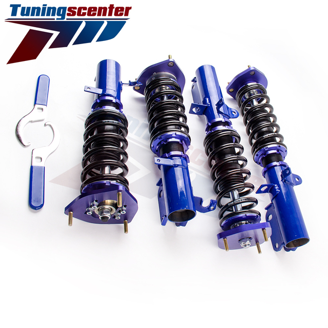 Non - Adjustable Coilover Shock Suspension fit Toyota Corolla AE90 AE100 AE111 87-00 Spring Coilovers Coil Shock Strut Blue
