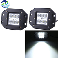 2pcs18w 4Inch Flush Mount Led Square Cube Flood Beam Led Daytime Running Light Offroad Truck Boat