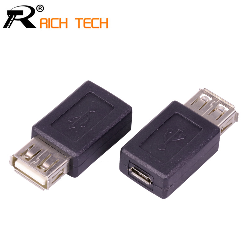 3pcs USB A Female to Micro usb Female jack Connector extand adapter RICH TECH professional Connector wholesale reliable convenient usb 3 0 type a female to female plug adapter extension connector coupler