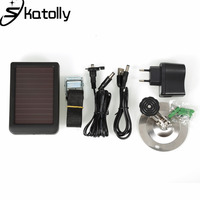 Skatolly 1500mAh Solar Panel Charger EU Plug Battery Power Bank For Hunting Cameras HC300 HC300M HC500