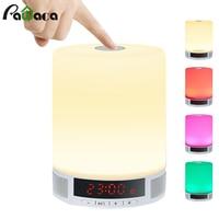 Multi function Digital LED Alarm Clock TF Card Wireless Bluetooth Speaker Smart LED Night Light Table Lamp Alarm Clocks With Mic