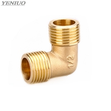 Brass Tube Fitting Adapter 90 Degree 1/8 1/4 3/8 1/2 3/4BSP Pipe Water, oil and gas Elbow Coupler