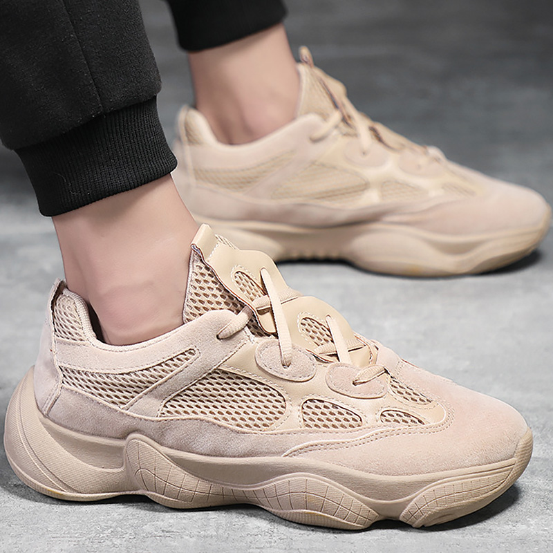 Men Ins Sneakers Casual Shoes Platform Chunky Sneakers Spring Shoes Breathable Rubber Light Male Sneakers