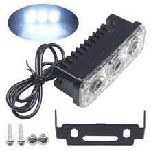 цена на 2pcs Car Daytime Running Light 5630 Chipset 3 SMD LED Day Light High Bright Car Light 12V Waterproof White DRL Moto Lamp