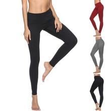 Women's High Waist Solid   Pants Workout Running Sports Leggings Pants  Trousers Workout Running#30