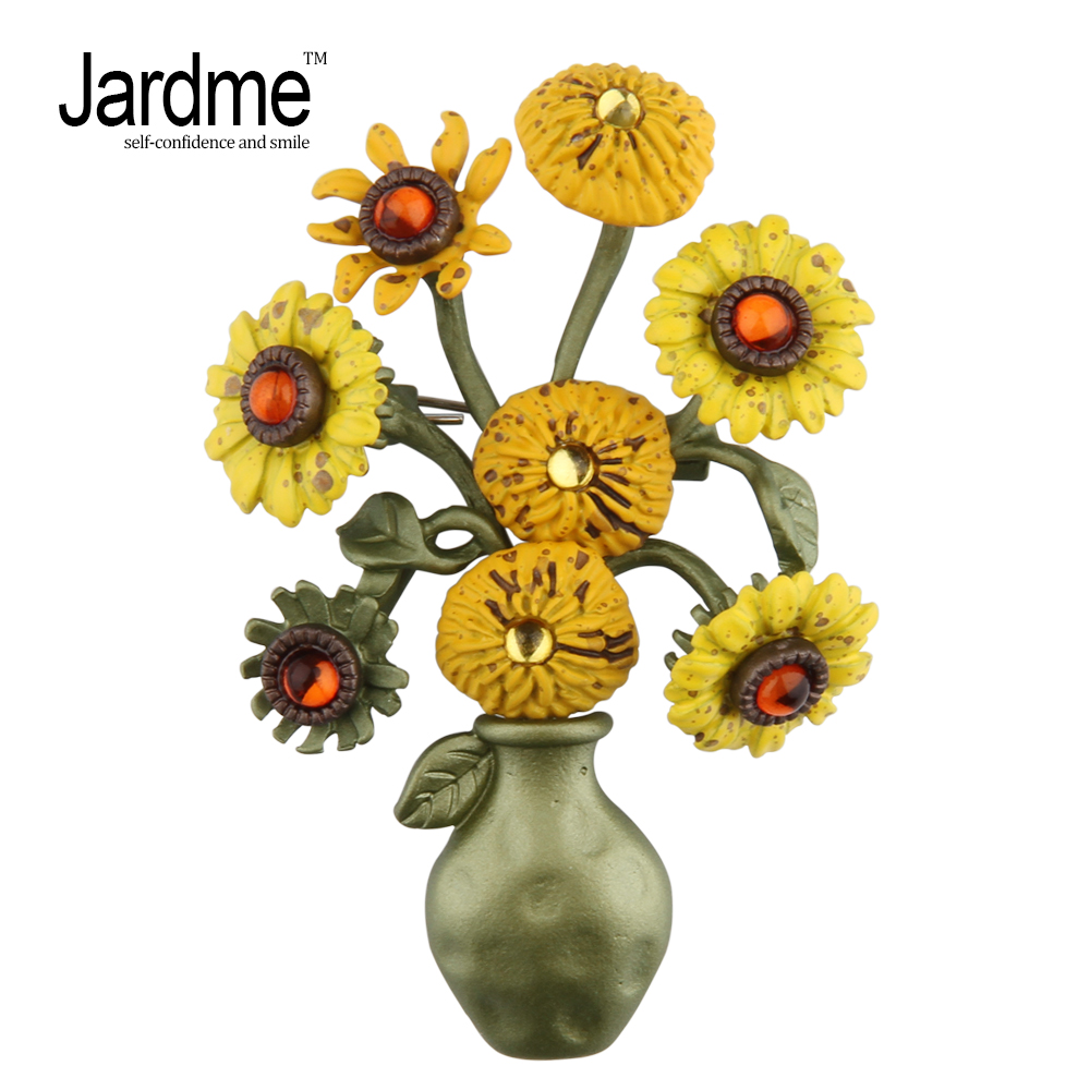 Jardme Vintage Brooch Jewelry Sunflower Brooches Scarves Women's Wedding Accessories Corsage Work Of The Impressionist Master