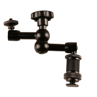 Arm Articulating Arm with Hot Shoe Mount 1/4 Tripod Screw for Camera CD50