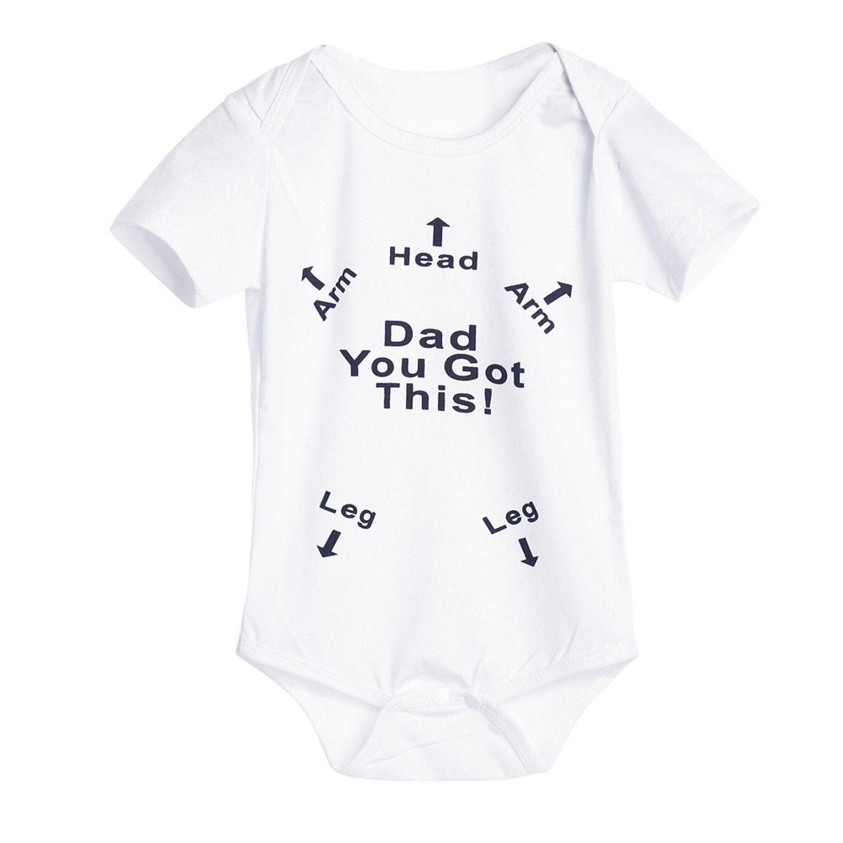 Newborn Kids Baby Boy Girl Summer Letter Print Romper Jumpsuit