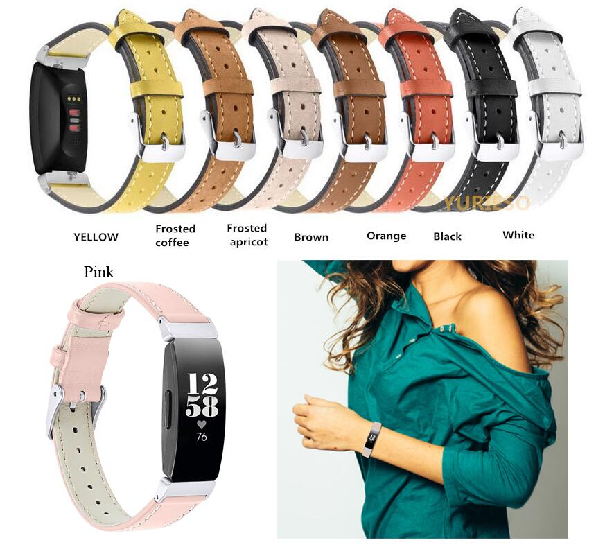 50 Genuine Leather Wristband Watch Band Strap For Fitbit Inspire / Fitbit Inspire HR Fitness Trackers High Quality For Watch fitbit watch