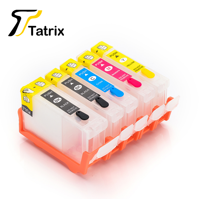 Compatible BCI-3 Refillable Ink Cartridge 5PK 2BK/C/M/Y For Canon BJC 3000/6000/6100/6200/i550/i850/PIXMA iP3000/iP4000/iP5000
