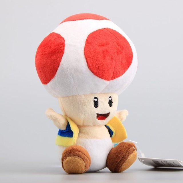 fefd390fd783d1 NIEUWE Super Mario Bros Mushroom Toad Knuffels Rode Kleur Zachte Poppen  Kinderen Knuffels 7
