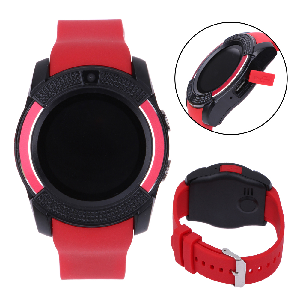 V8 Smart Watch Support TF SIM Card Bluetooth Smartwatch For Phone