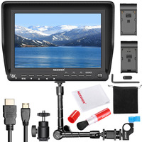 Neewer NW S7 7 inches 4K HD Camera Field Monitor Kit:Camera Monitor Magic Arm Professional Cleaning Kit
