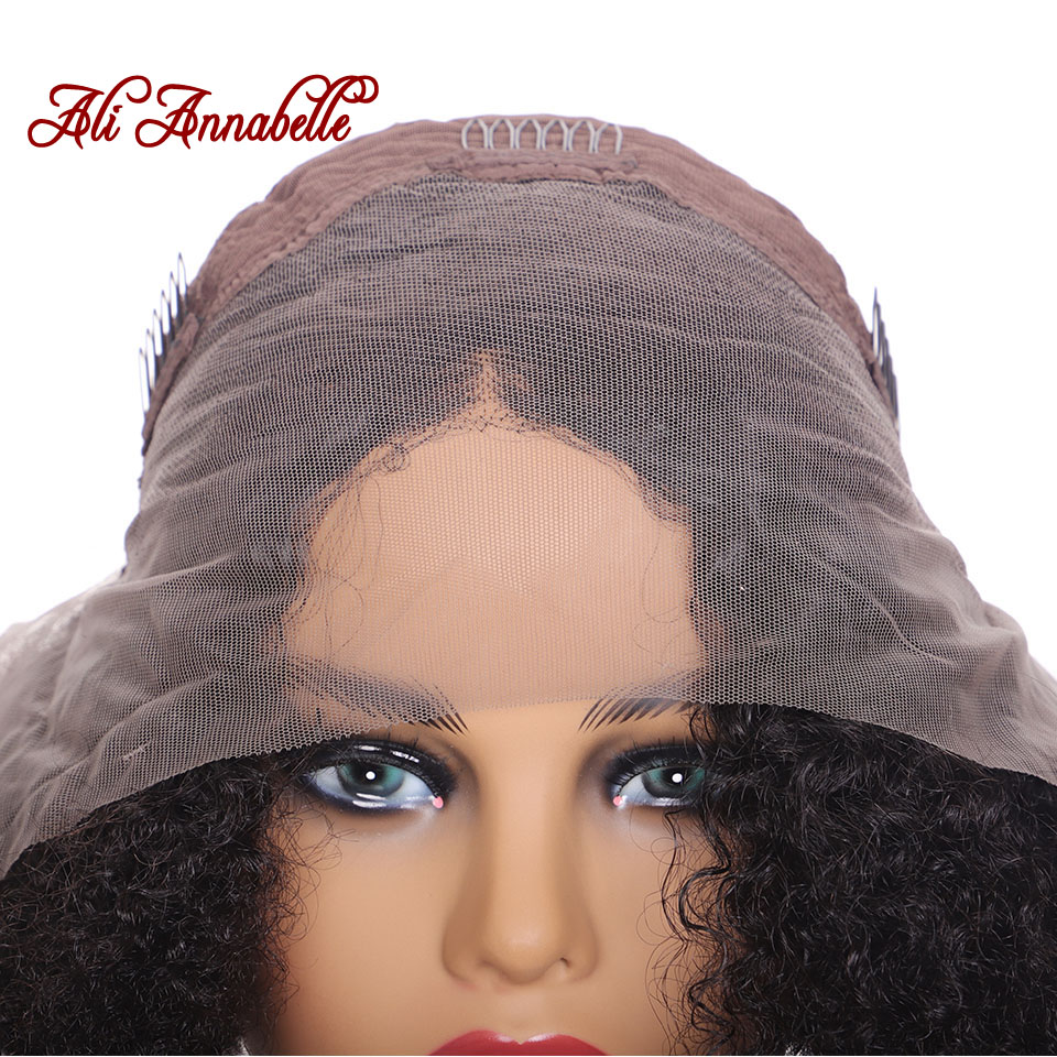 Image 5 - Brazilian Short Curly Lace Front Human Hair Wigs Pre Plucked With Baby Hair 13*5 Bob Lace Front Wigs For Black Women Remy Hair-in Human Hair Lace Wigs from Hair Extensions & Wigs