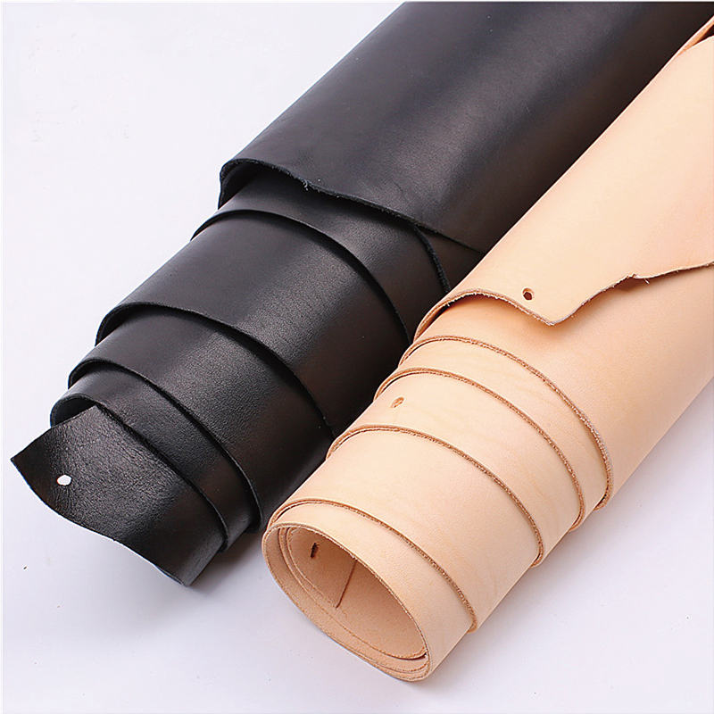 Natural Leather Sheet Genuine Cow Leathercraft Size Thickness Choice DIY Crafts