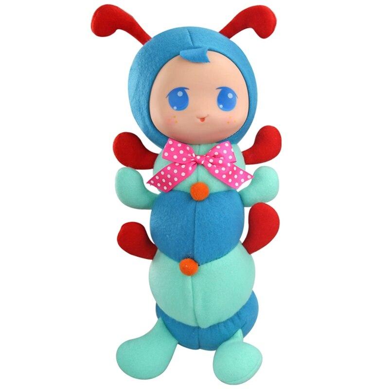 Детские игрушки вещи милые Caterpillar мультфильм животных плюшевые куклы раннего обучения Развивающие игрушки для детей