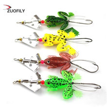 Frog Fishing Lures 80mm/6g High Quality Fishhooks Kopper Live Target Frog Lure Snakehead Lure Topwater Simulation Frog(China)