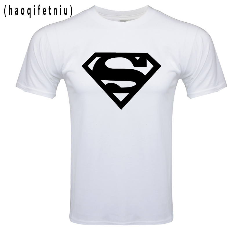 2017 Cotton tee shirt short sleeve mens t-shirt print casual men tshirt superman print men t shirt Fitness Cosplay Costume