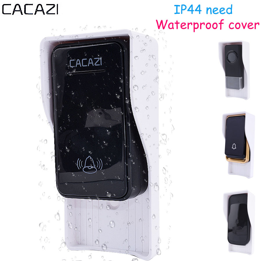 CACAZI Waterproof cover FOR Wireless Doorbell smart Door Bell ring chime button Transmitter Launcher call Accessories heavy rain